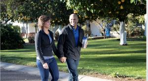 2 people walking