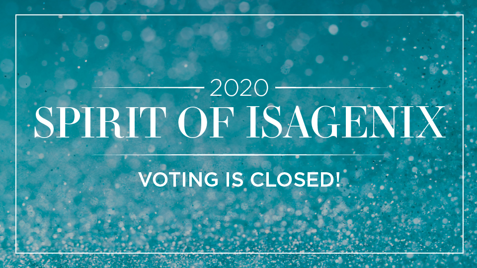 2020 Spirit of Isagenix award voting is closed
