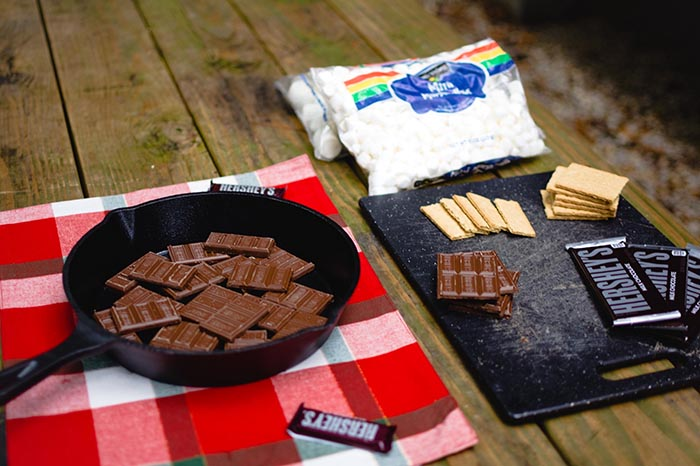 Materials for s'mores