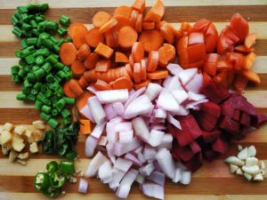 Protein Bowl - Chopped Vegetables