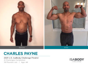 Before and after photos of Charles Payne