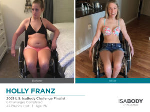Before and after photos of Holly Franz
