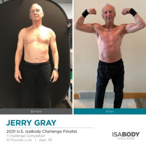 Before and after photos of Jerry Gray