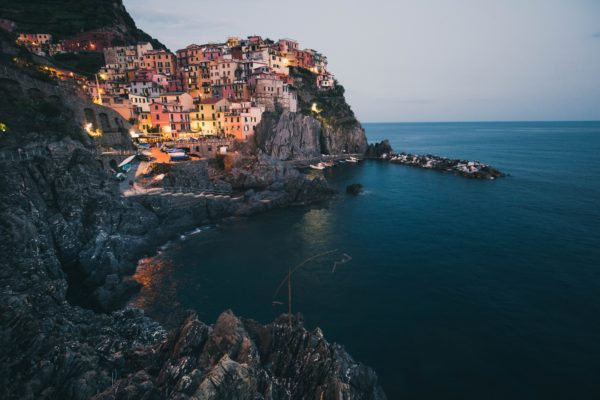 Homes on Mediterranean coast
