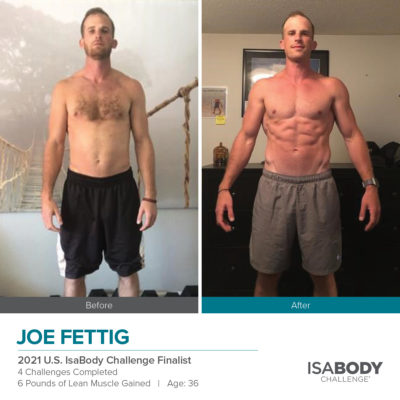 Joe Fettig 2021 U.S. IsaBody Challenge Finalist before and after photos