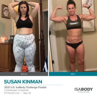 Susan Kinman 2021 U.S. IsaBody Challenge Finalist before and after photos