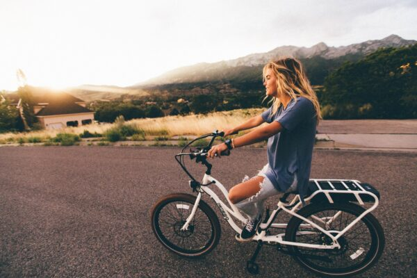 Sustainability - Woman on Bike